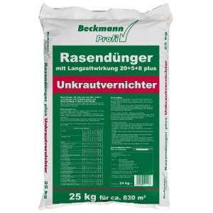 25 kg Rasendünger mit Unkrautvernichter (830m²) Langzeitwirkung